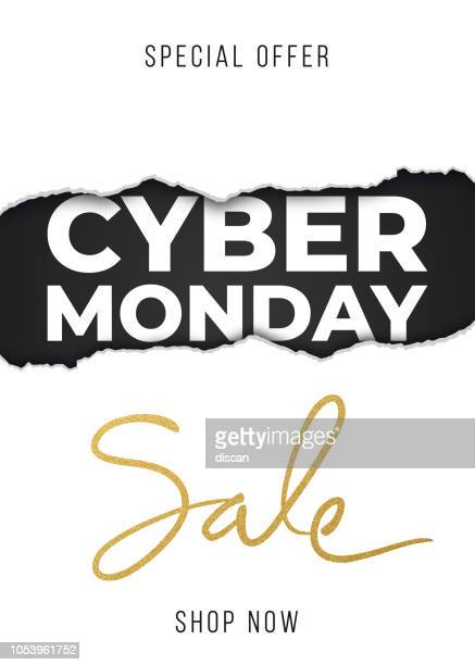 cyber monday design for advertising, banners, leaflets and flyers. - cyber monday stock illustrations