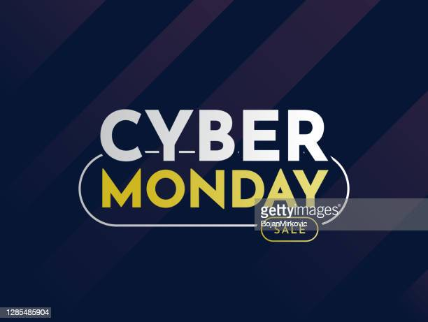 cyber monday sale card, banner, background. vector - cyber monday stock illustrations