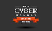 Cyber Monday sale label design template