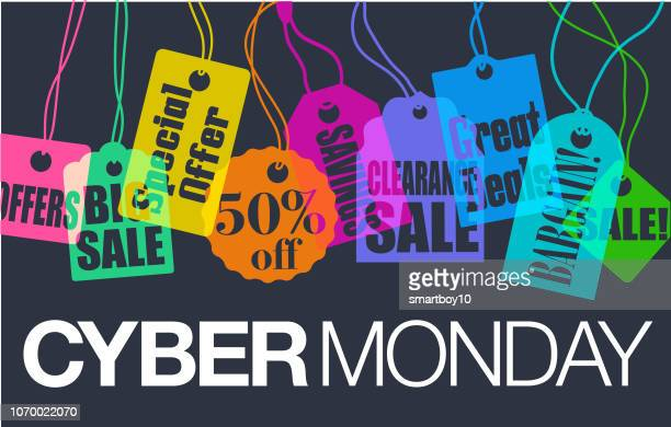 cyber monday sales - cyber monday stock illustrations