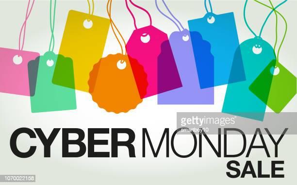 ilustraciones, imágenes clip art, dibujos animados e iconos de stock de cyber lunes ventas - black friday
