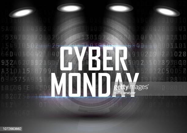 cyber monday - cyber monday stock illustrations