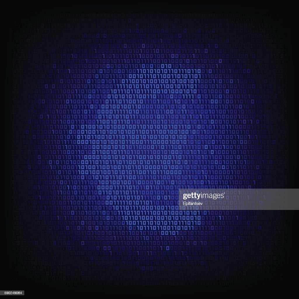 Cyber Money Concept Binary Code Euro Symbol Clipart Vectoriel