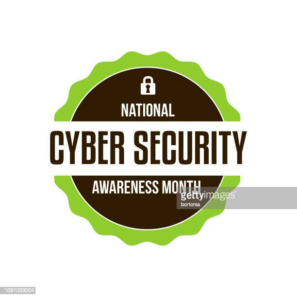 cyber security awareness month - month stock illustrations