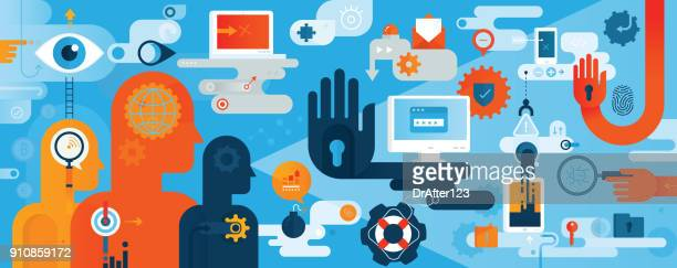 Cyber Security Concept Horizontal