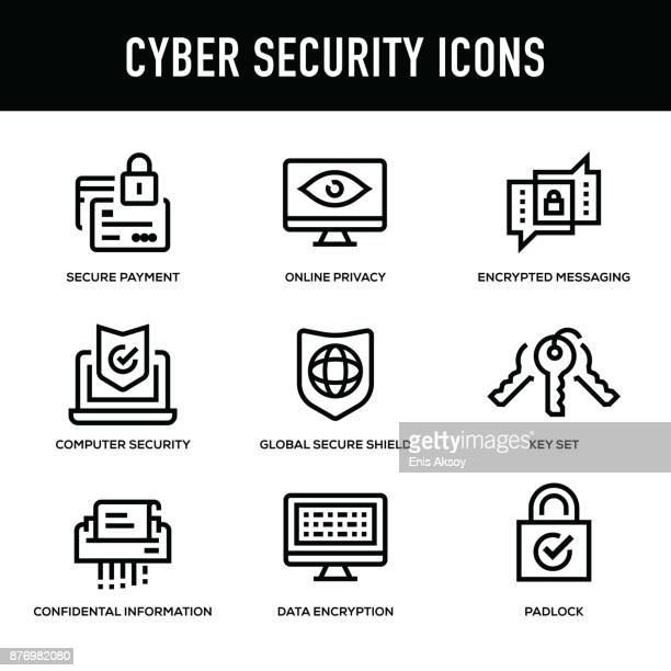 Cyber Security Icon Set - Thick Line Series
