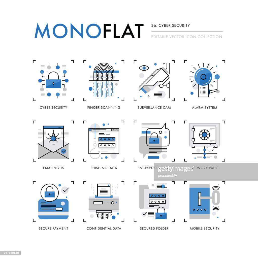 Cyber Security Monoflat Icons