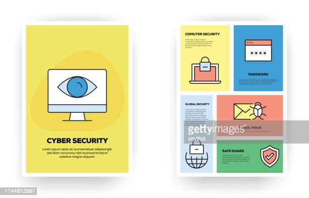 cyber security related infographic - firewall stock illustrations