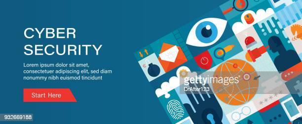 Modèle de bannière Web Cyber sécurité