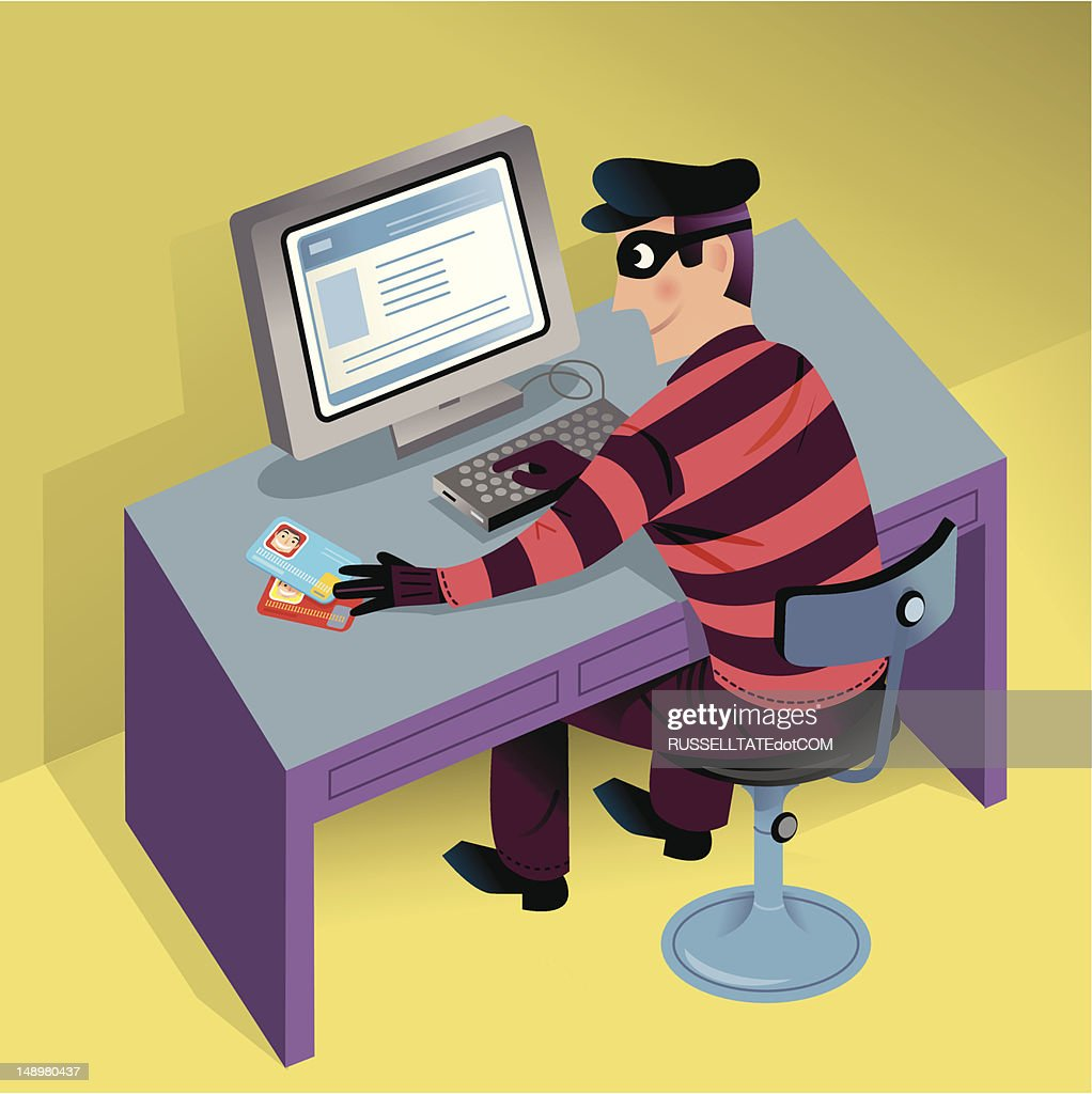 Cyber Theft : stock illustration
