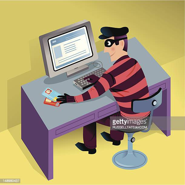 cyber theft - artificial stock illustrations