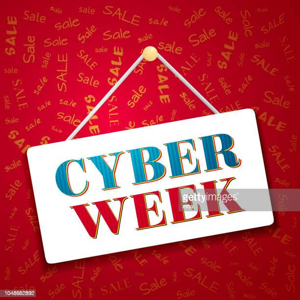 cyber week - week stock illustrations