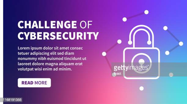 cybersecurity act banner on holographic gradient background - firewall stock illustrations