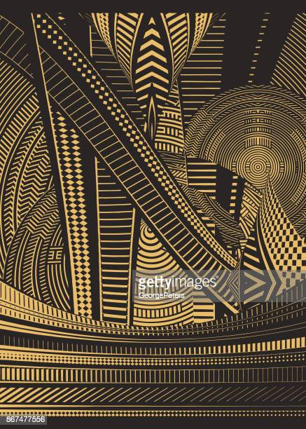 cyberspace half tone pattern background - escalator stock illustrations, clip art, cartoons, & icons