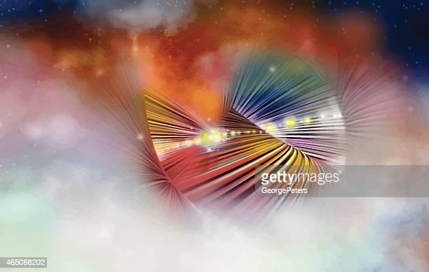 CyberSpace Nebula Technology Background