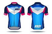 Cycle jersey.sport wear protection equipment vector illustration.
