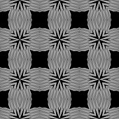 Cyclical Pattern of Geometric Shapes. Seamless Vector Illustration. For the Interior Design, Wallpaper, Printing, Textile Industry, Scrapbook Paper.