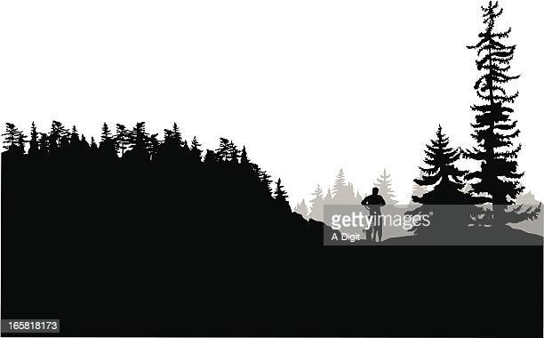 Cycling Alone Vector Silhouette