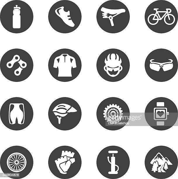 Cycling Circle Silhouette icons | EPS10