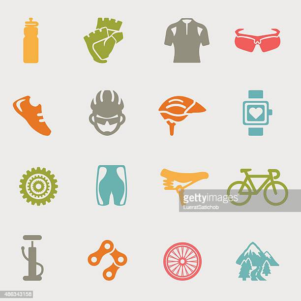 Cycling color variation icons | EPS10