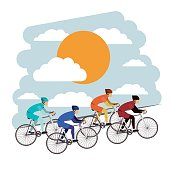 cycling competition isolated icon design