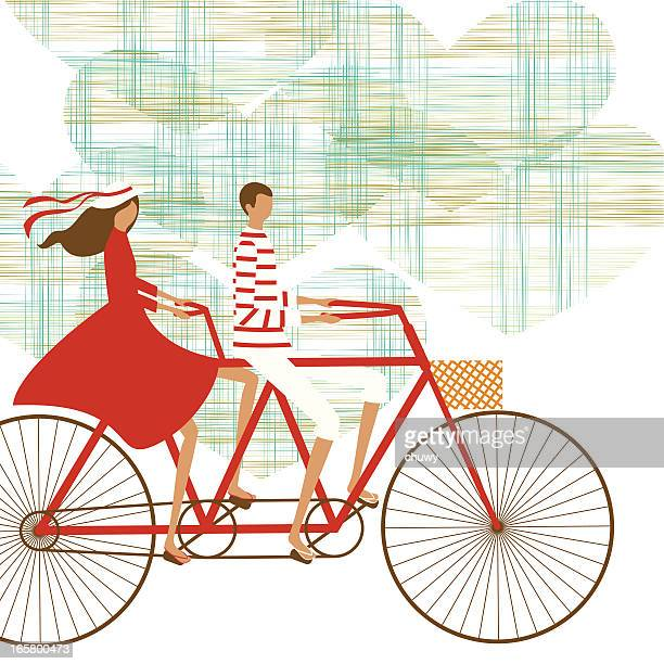 Cycling couple background