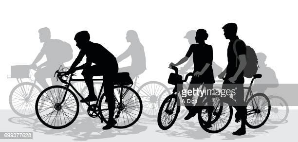 cycling fast groups - young adult stock illustrations, clip art, cartoons, & icons