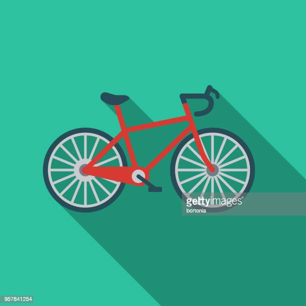 Cycling Flat Design Sports Icon with Side Shadow