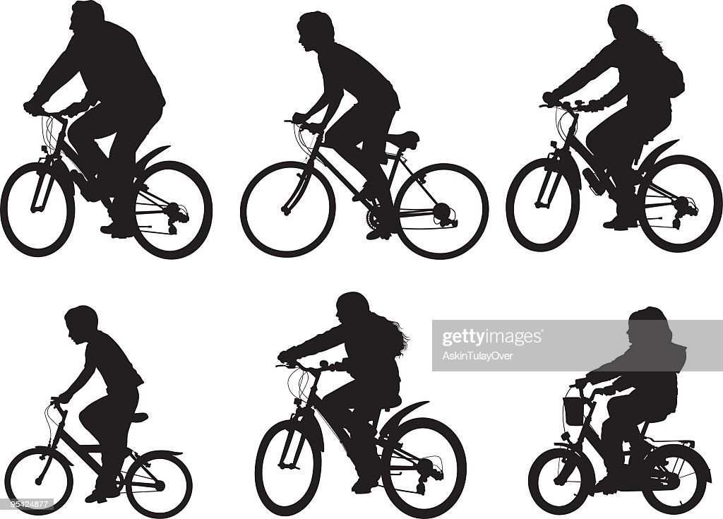 Cycling Group : stock illustration