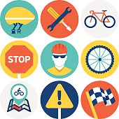 Cycling Icons and Symbols