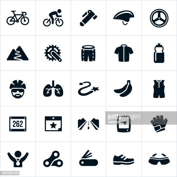 cycling icons - thoroughfare stock illustrations, clip art, cartoons, & icons