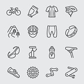 Cycling line icon