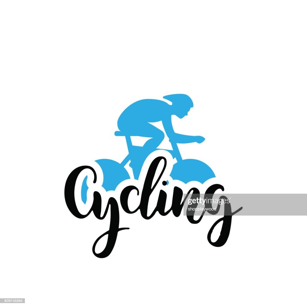 Cycling logo lettring
