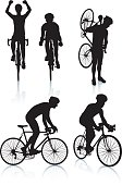 Cycling Silhouettes 2