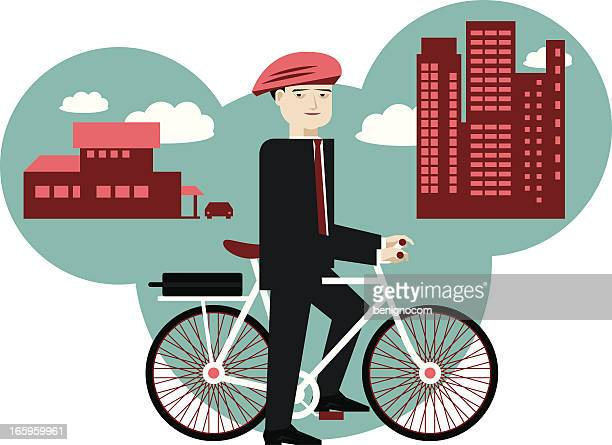 cycling to work - bike helmet stock illustrations, clip art, cartoons, & icons