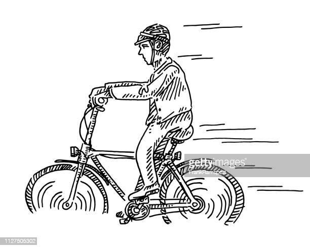 Radfahrer-Seitenansicht Zeichnung