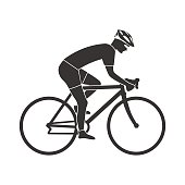 Cyclist silhouette icon