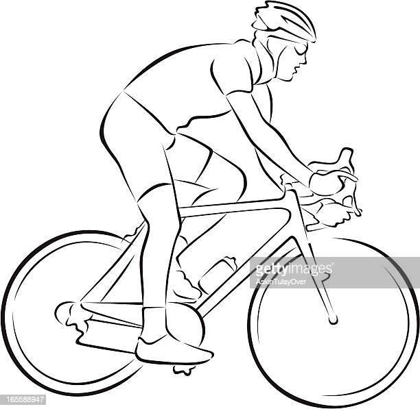 cyclist - bike helmet stock illustrations, clip art, cartoons, & icons