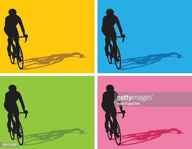 cyclist - racing bicycle stock illustrations