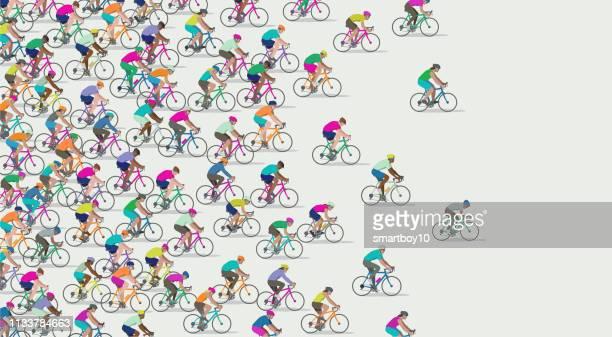 自転車 - 競争点のイラスト素材/クリップアート素材/マンガ素材/アイコン素材