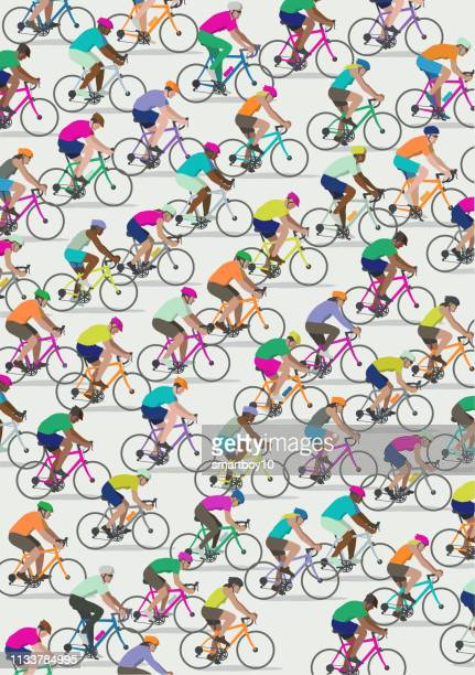 cyclists - bike helmet stock illustrations, clip art, cartoons, & icons