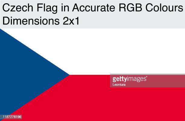 Czech Flag in Accurate RGB Colors (Dimensions 2x1)