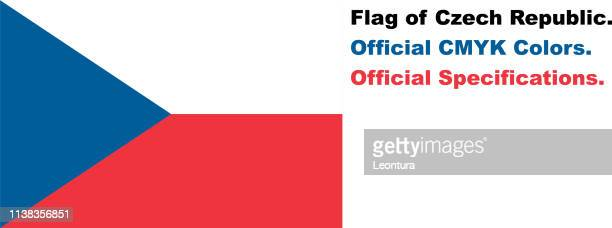 Czech Flag (Official CMYK Colours, Official Specifications)