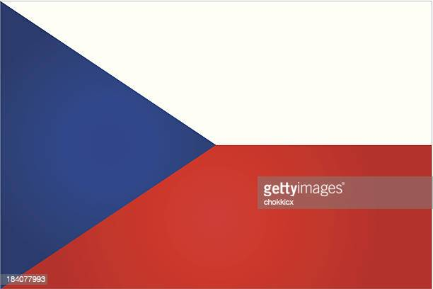 czech republic flag in red, white, and blue - czech republic stock illustrations