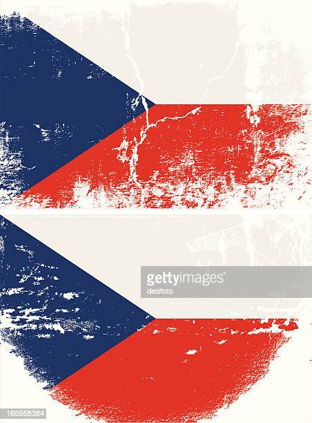 Czech Republic Grunge flag