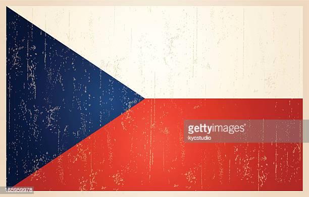 Czech Republic grunge vintage flag