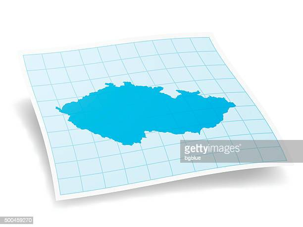 Czech Republic Map isolated on white Background