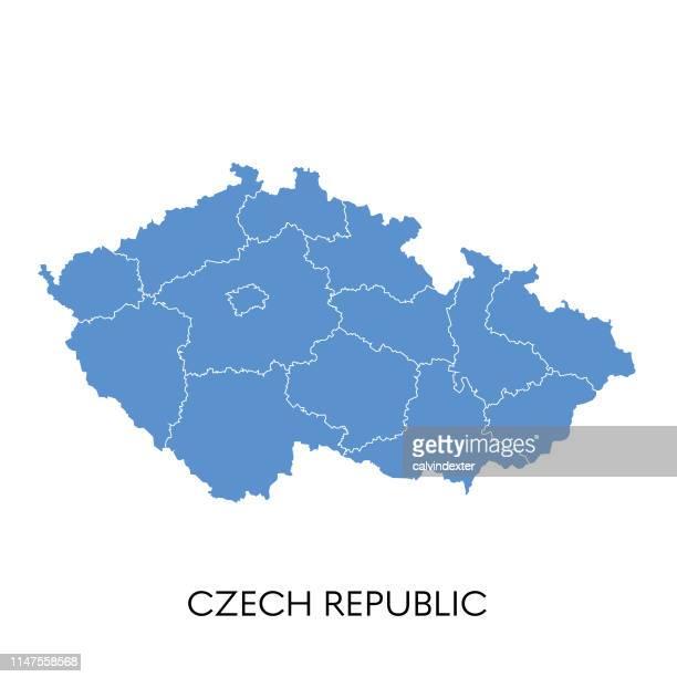 czech republic map - czech republic stock illustrations