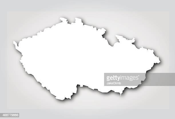 Czech Republic Silhouette White