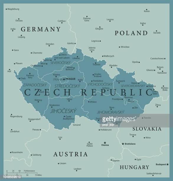 24 - czech republic - vintage murena isolated 10 - prague stock illustrations, clip art, cartoons, & icons
